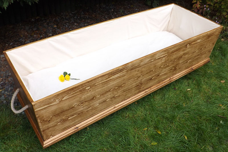 Beautifully Hand Built 100% Environmentally Friendly Coffins